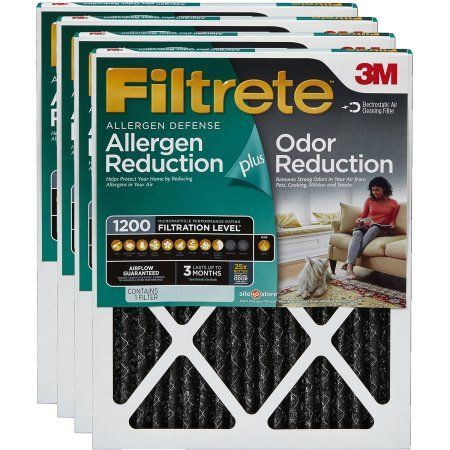 Filtrete Allergen Plus Odor Reduction Air and Furnace Filter, Available in Multiple Sizes, 1pk