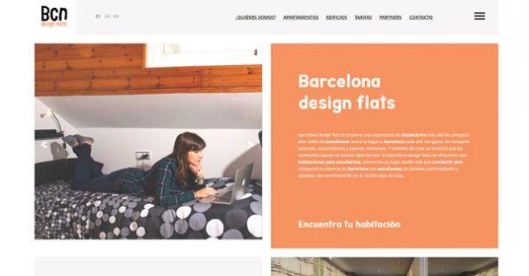 Diseño web para Pisos Estudiantes Barcelona, empresa dedicada a alquilar pisos para estudiantes universitarios nacionales e internacionales en Barcelona.