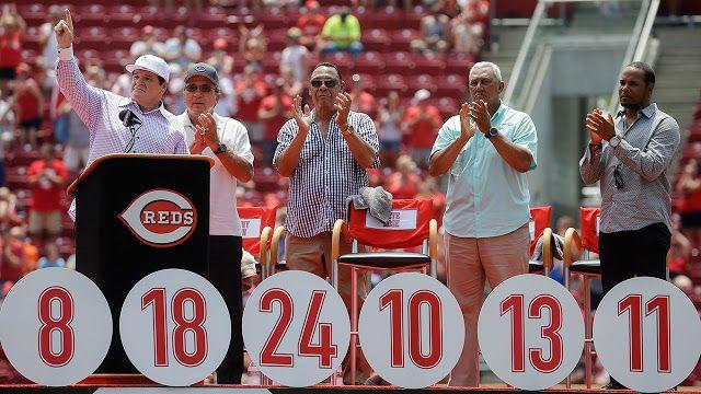 Los Rojos de Cincinnati retiraron el número 14 de Pete Rose