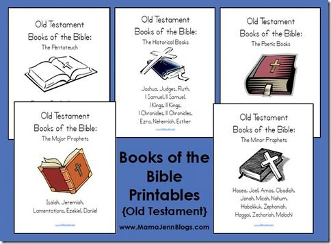 Learn The Books Of The Bible - Bible Cards And Fun Games ...