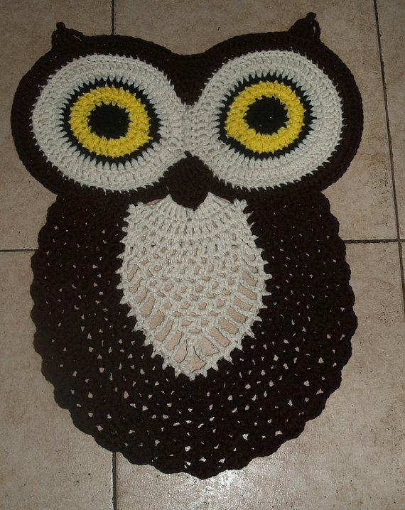 Crochet  Owl Rug Pattern by vjf25 on Etsy, $4.95