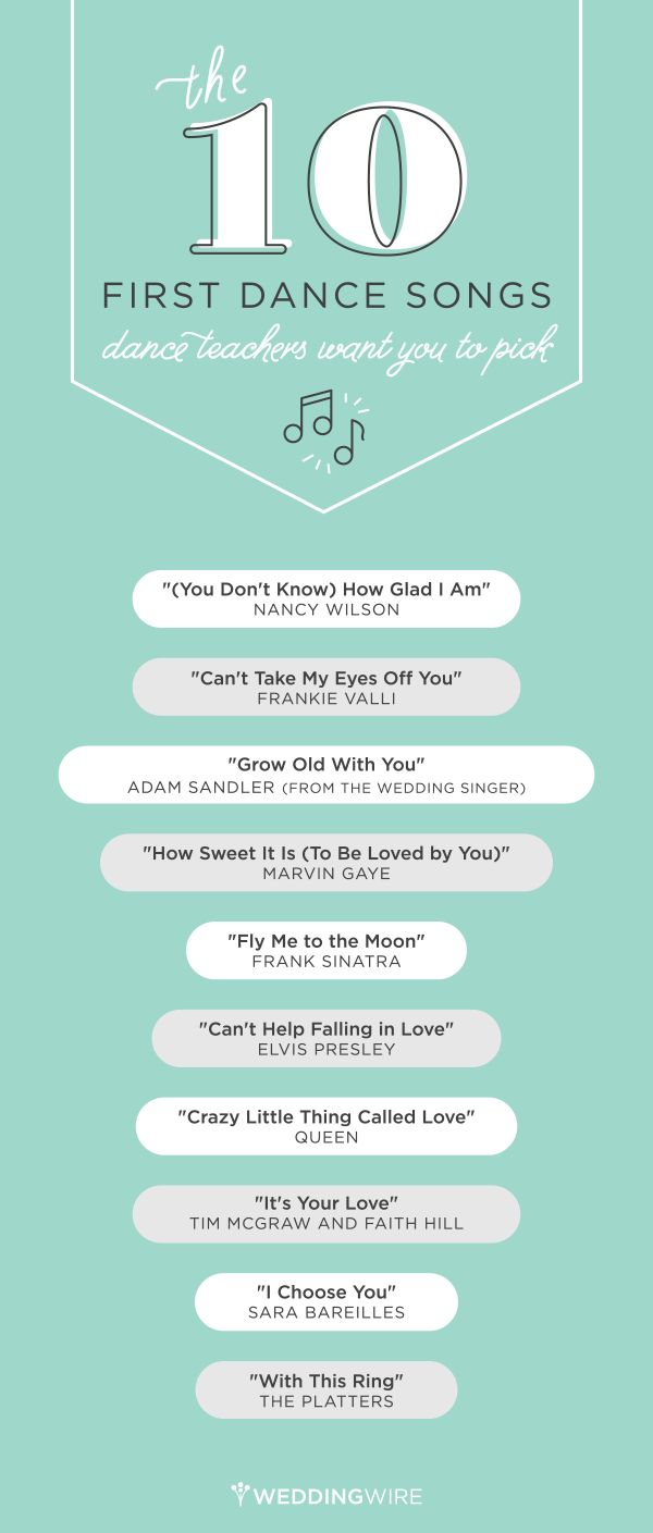 Looking for a first dance song that's meaningful, but still easy to dance to? Look no further! Dance instructors gave @weddingwire the songs they wish more couples would pick. Click through to listen!