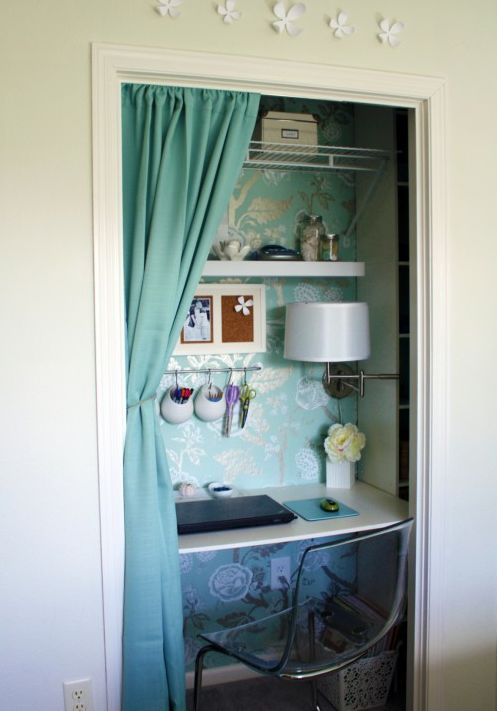 1000 Images About Home Rooms Office In A Closet Cloffice On