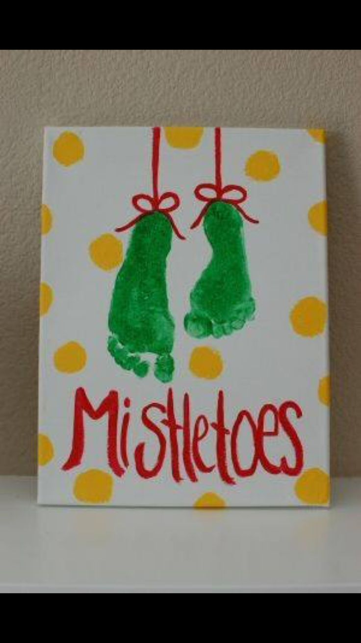 Mistletoe Such A Cute Craft Idea For The Kids Or Couples Name And Date Each One To Make It Really Memorable Babys First Christmas