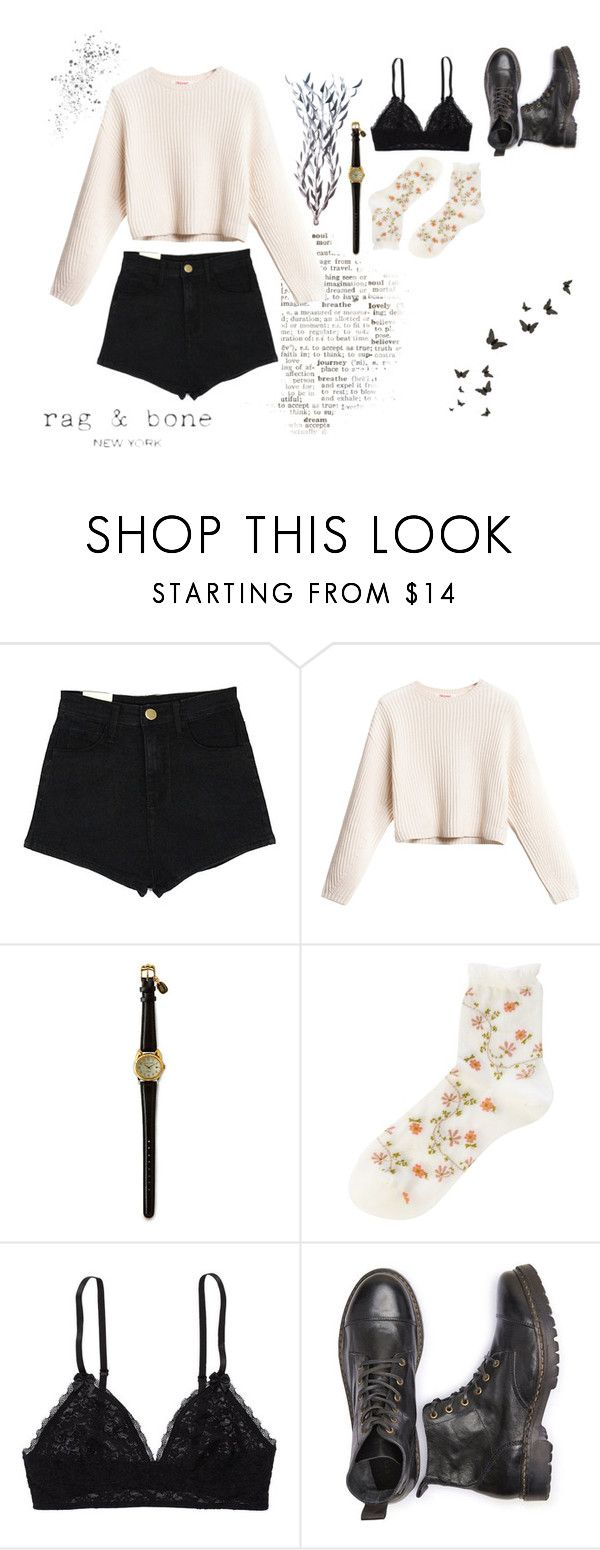 """Rag & Bone"" by charlotte-sophie-lensen on Polyvore featuring Falke, Aerie and Disney"