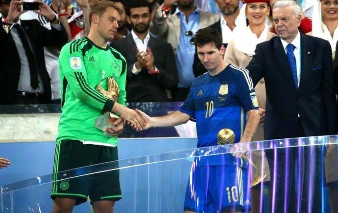 Blog Esportivo do Suiço: Messi leva Bola de Ouro, e Neymar fica com Chuteira de Bronze