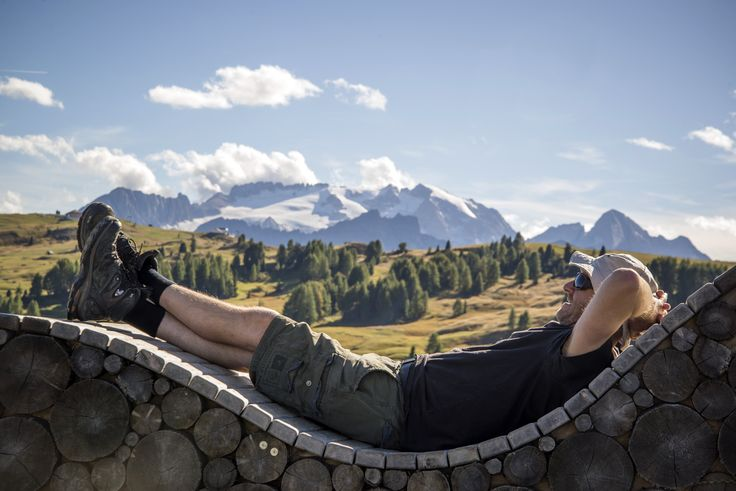 What a spot! Relax with this view after a good day's hiking in the Italian Dolimites