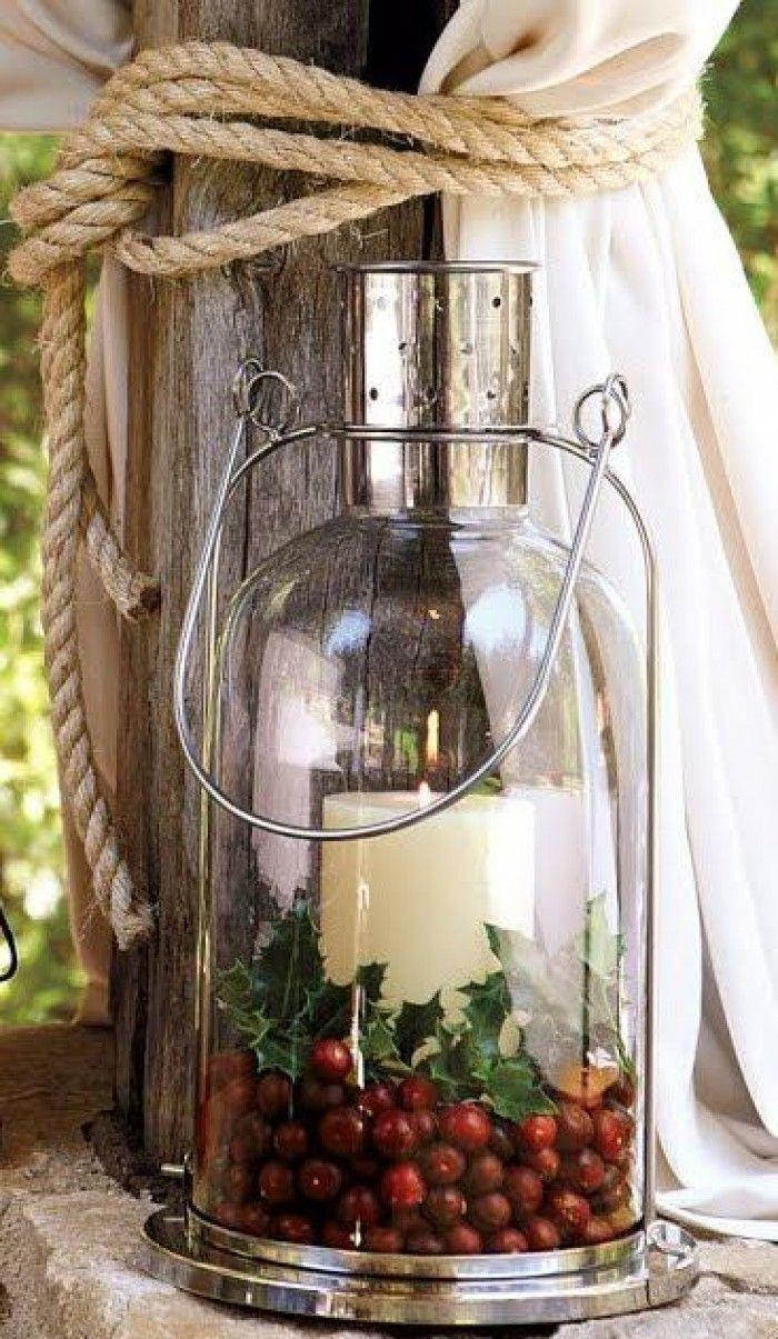 Een idee voor een kerst lantaarn