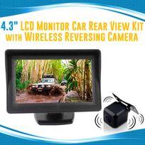 "4.3"" LCD Monitor 12V Wireless car rearview kit CMOS Car Truck reversing camera"