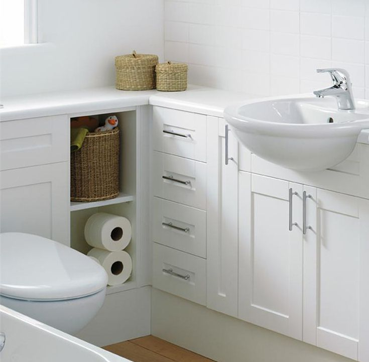 Best 25 small bathroom inspiration ideas on pinterest small bathroom decorating bathroom - Small bathroom space pict ...