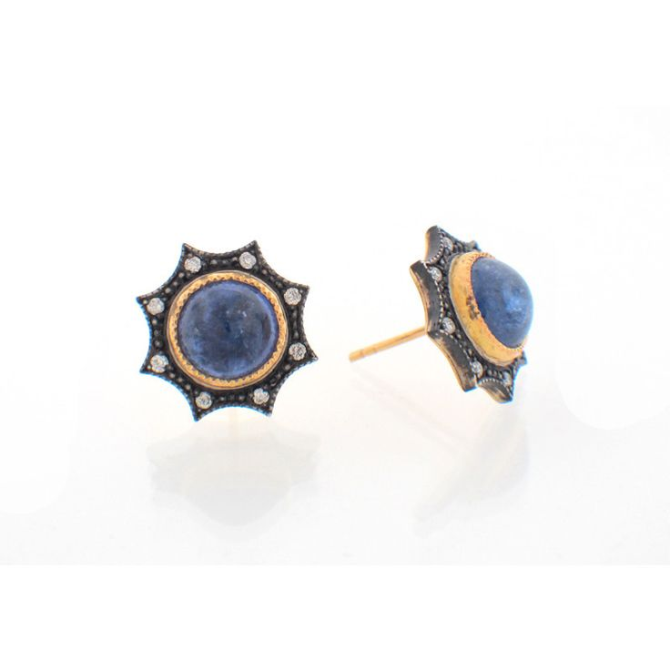 Arman Sarkisyan Tanzanite, Sterling Silver and 22K Gold Earrings – Seattle Jewelry | Fox's Seattle