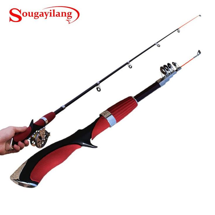 [Visit to Buy] New 140CM Mini  Pole Carbon Fiber Portable Sea River Fly Fishing Pole Spinning Lure Rod Fishing Tackle Tool For Outdoor Sports #Advertisement