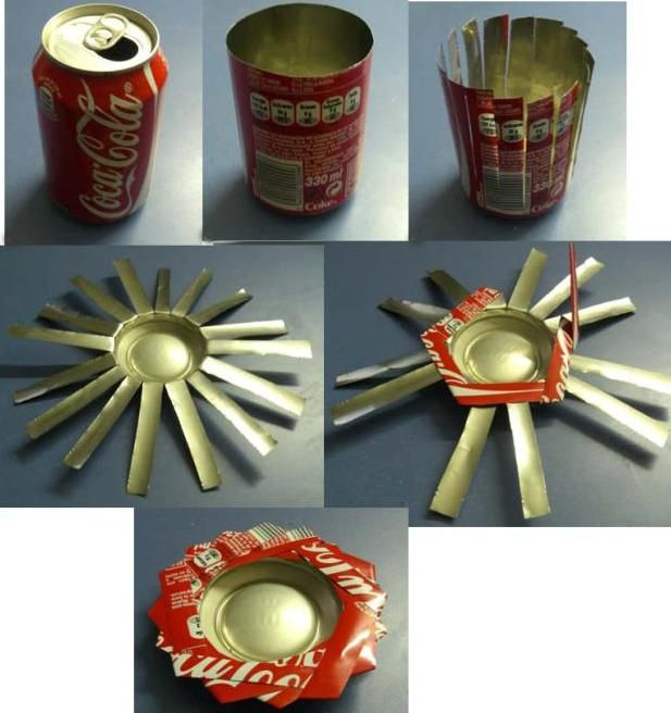 Coke can ashtray diy recycled metal pinterest coke cans for Cool recycled stuff
