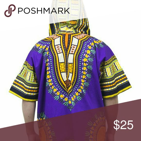 Hood dashiki  for men and women This is one size shirt fit small to extra large Tops Sweatshirts & Hoodies