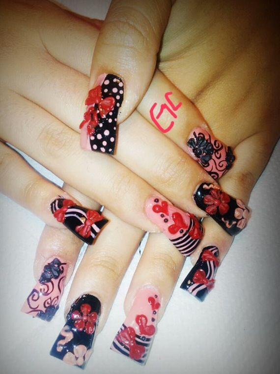 Acrylic nails by Gemma