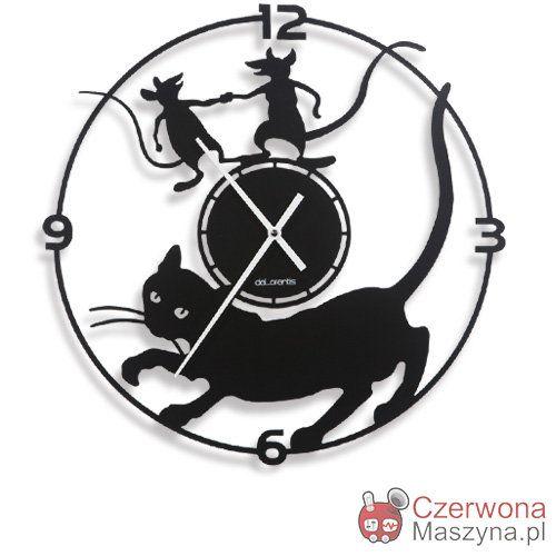 Zegar ścienny deLorentis MISTIGRI 40 cm - CzerwonaMaszyna.pl