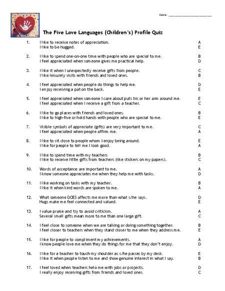 Languages Love 5 Quiz Free