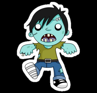 Zombieee Girl Sticker