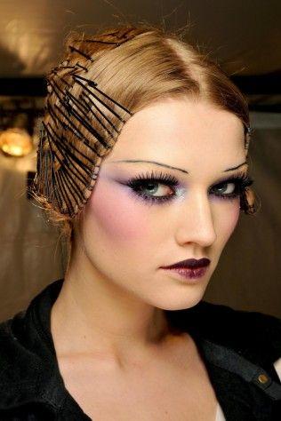 John Galliano 1920s inspired make-up