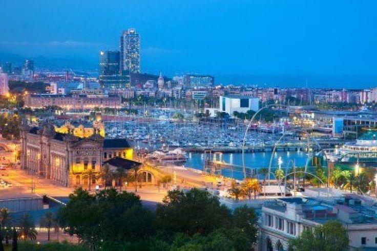 Google Image Result for http://us.123rf.com/400wm/400/400/niserin/niserin1110/niserin111000107/10859150-barcelona-spain-skyline-at-night-horbor-view.jpg