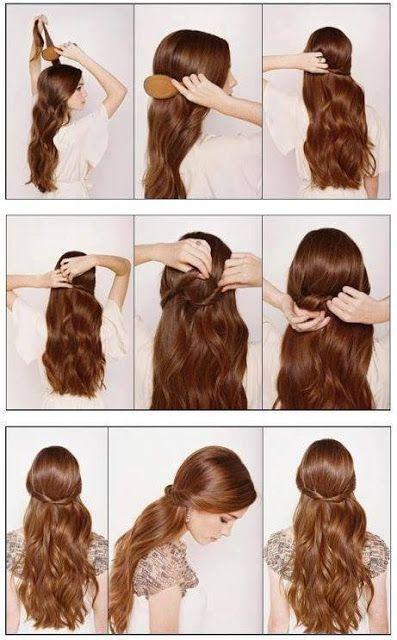Coiffure du matin cheveux long