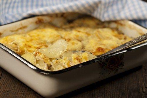 Запеченный фенхель с картофелем и сыром