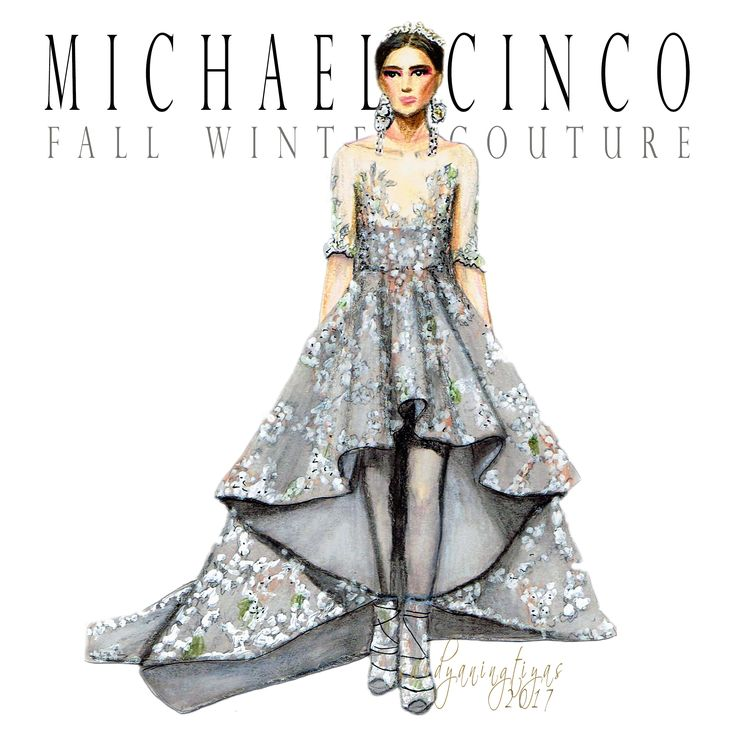 Michael Cinco Fall Winter Couture illustration by swidyaningtiyas