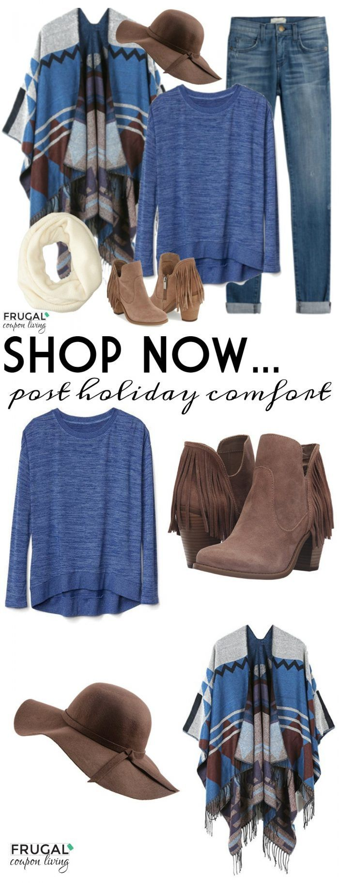 Frugal Fashion Friday Post Holiday Comfort Outfit on Frugal Coupon Living. What to wear after the holiday season. Outfit of the Day.