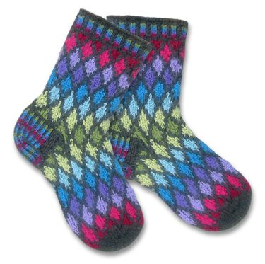 Jewel fair isle knit socks - these would be a challenge! Beautiful!