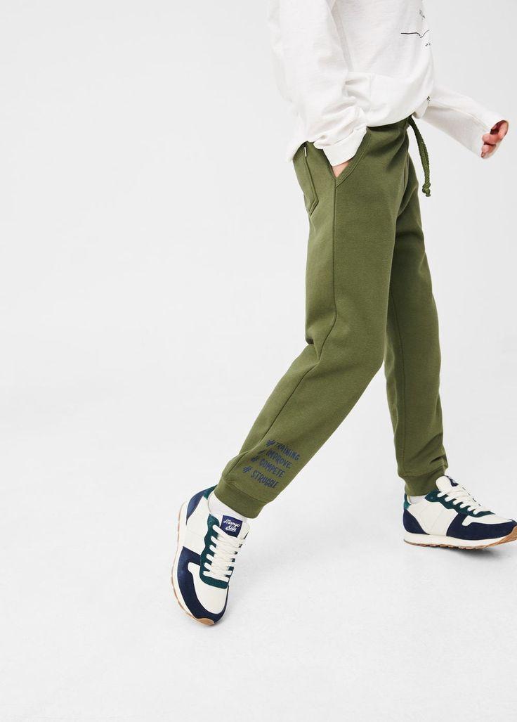 Βαμβακερό παντελόνι για τρέξιμο | MANGO KIDS