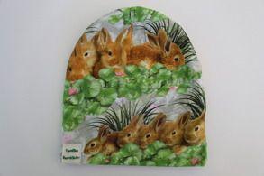 Mössa kaniner, fleecefodrad - Storlek 44-58  Pris/st: 120 kr
