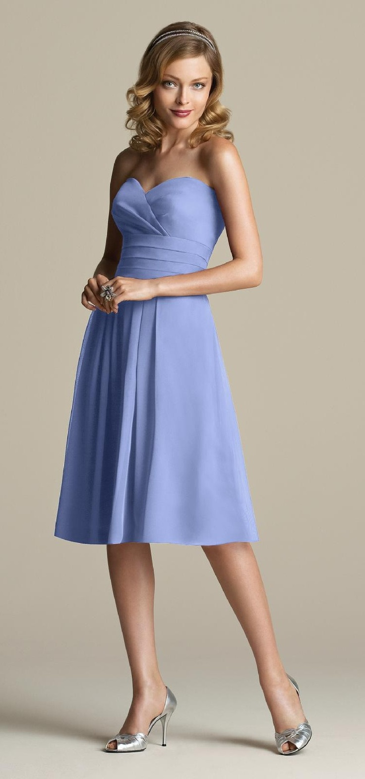Periwinkle bridesmaid dresses tying the knot pinterest for Periwinkle dress for wedding