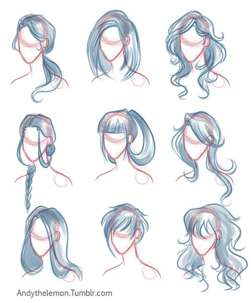 Hair And Head Drawing Tutorial Andythelemon Stylisme How To