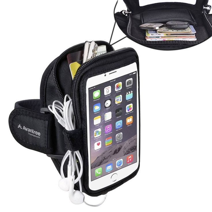 "Avantree Water Resistant iPhone 6 / 6S Plus Sports Running Armband (for Big Arm) with Key Holder / Card Pouch, Best Stretchy Fabric - Trackpouch V2. No pockets? No problem, This multifunctional sports armband is the smartest, most secure way to keep your phone, keys, cards and other valuables safe when working out. At long arm length (21 inches) with inside length measurement of 6.26"" and a width of 4.2"", this exercise armband is the perfect size to look after your essentials, without..."