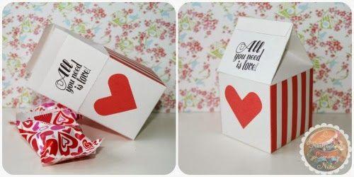 Descargable para san valentin caja imprimible de corazones. Freebies