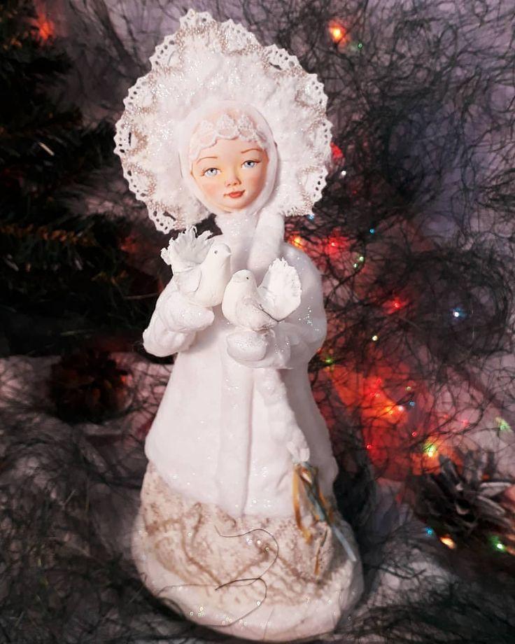 Снегурочка))) #ватныеигрушки #новогоднийподарок #новогодниеукрашения
