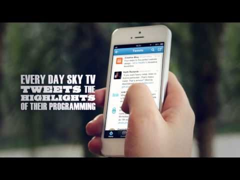 Sky Brazil allows it's customers to record shows through the hashtag #SKYREC