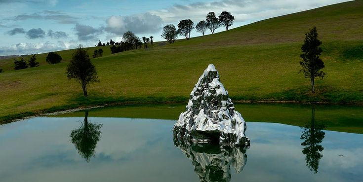 Zhang Wang Floating Island of Immortals 2006 Stainless steel 4.8m x 8.6m