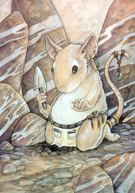 Earth Mouse by ursulav on DeviantArt   MIXED MEDIA