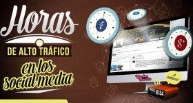 Horas de alto tráfico en los Social Media