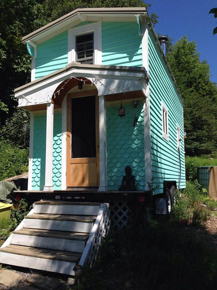 It's a mermaid tiny house! 'Margaret Designed An Built Her Own Beautiful  Tiny Home - Tiny House for Us'