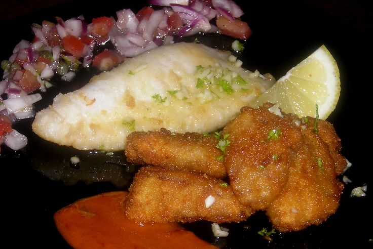 Deep Fried Pig's Ear & Grilled Baby Squid-  Oreja de Cerdo Frita y Chipiron a la Plancha