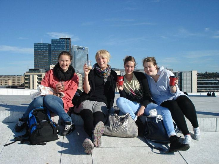 On the roof of operahouse in Oslo, norway :-)