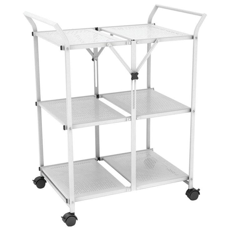 Atlantic Folding Cart With Handle (white)