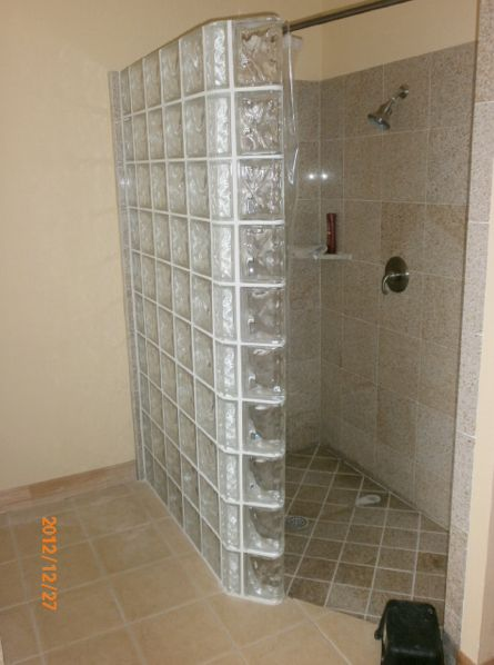 doorless glass block showers in san antonio texas