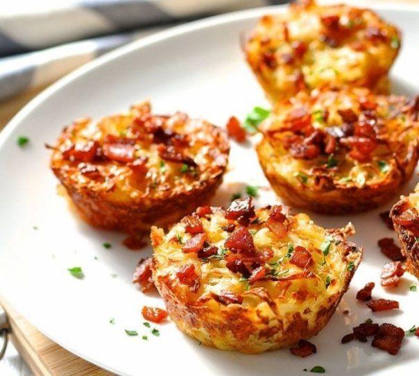 Briose cu cartofi si bacon