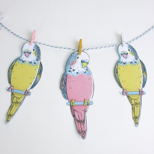 Love this DIY budgie bunting