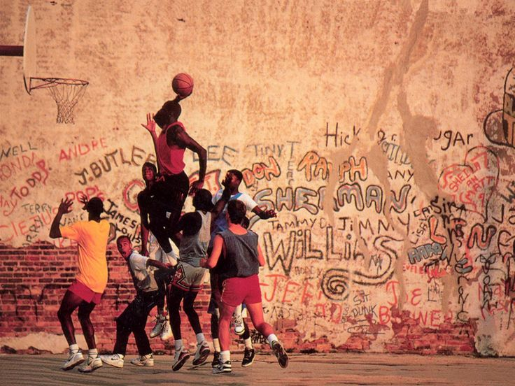 Basketball, in the street, in a garden, wherever you can play.
