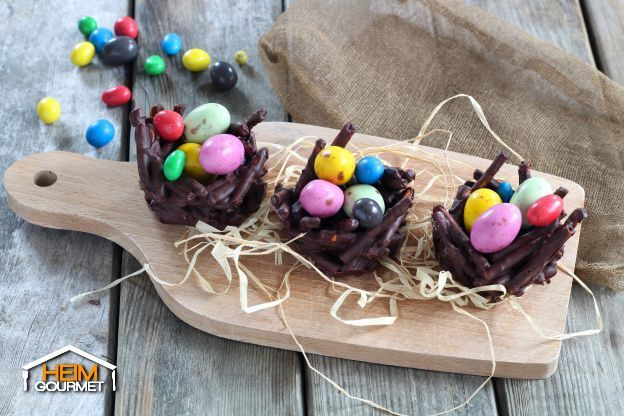 Schokoladige Osternester