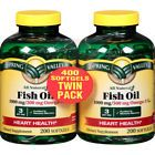 Spring Valley Fish Oil Softgels 1000 Mg 200 Ct 2 Pk